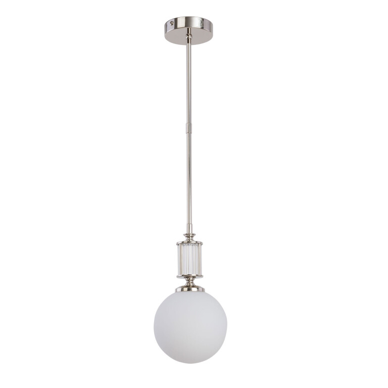Lighting room ARTU glass single pendant ceiling lights in nickel