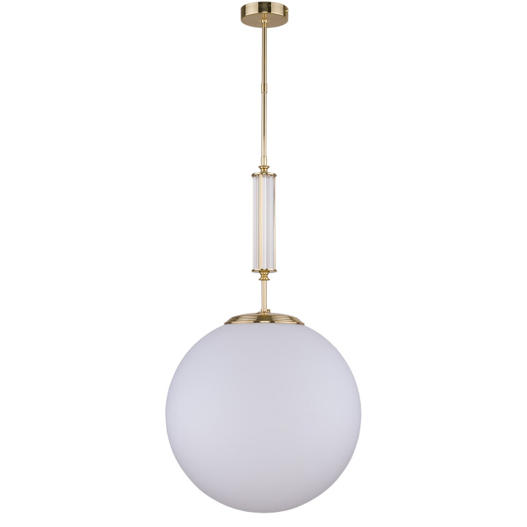 Lighting room ARTU globe single ceiling pendant light in gold with glass shade