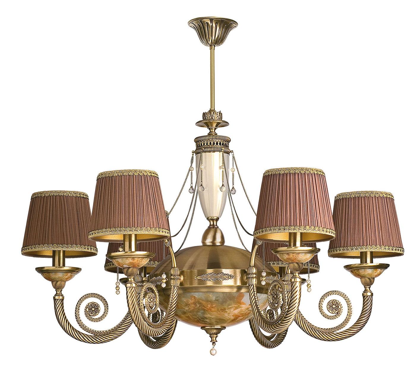 Bespoke Lighting Bibione Antique Brass Chandelier 6 Arm Swarovski Crystals Luxury Chandelier