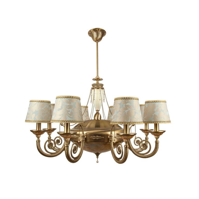 Bespoke lighting BIBIONE 11 light chandelier brushed brass