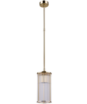 Lighting room CERO pendant lamp with glass shade in gold