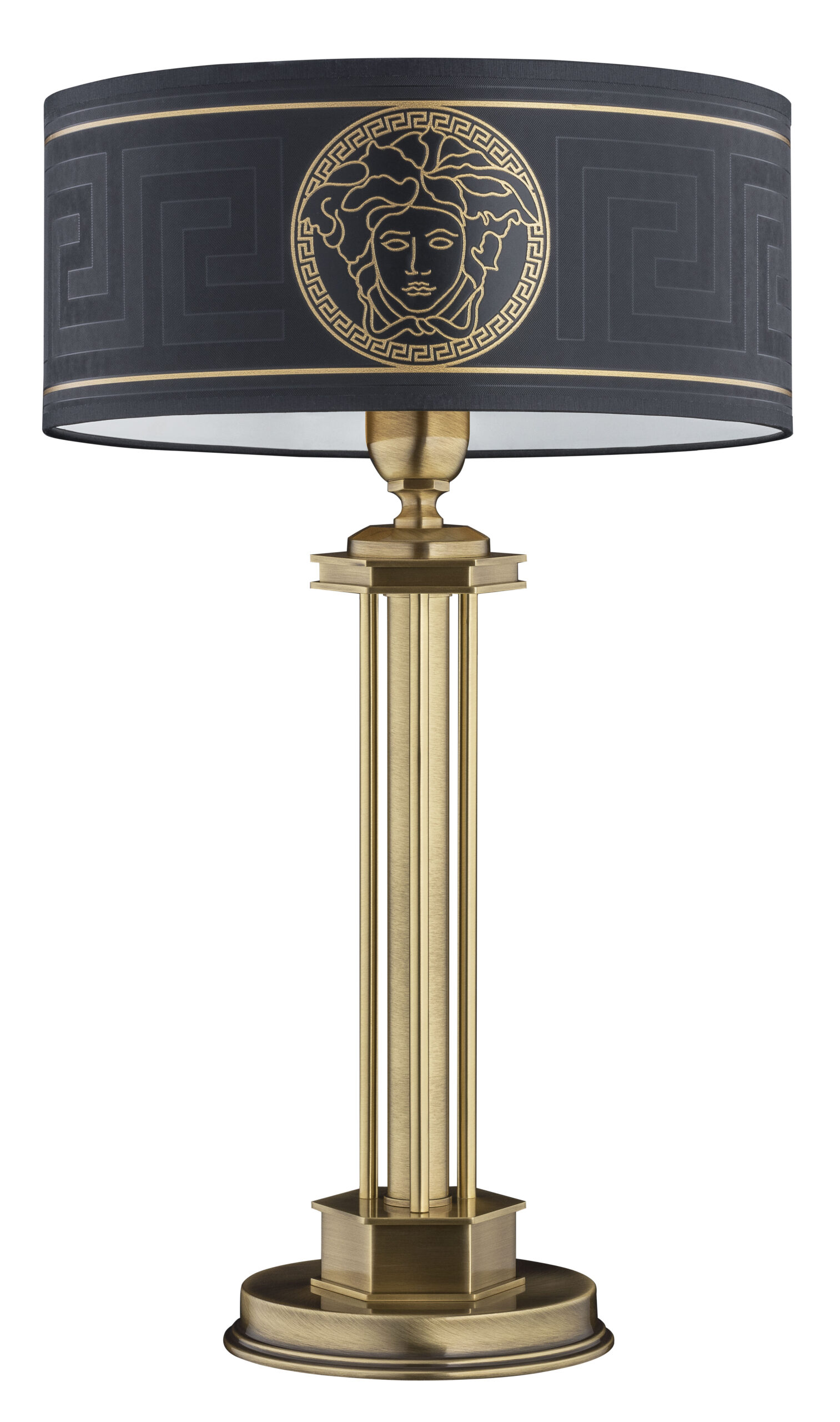 Decor Table Lamps In Old Gold Versace Shade Luxury Chandelier