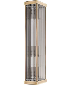 Modern wall light ENZO in patina and ribbed glass shade