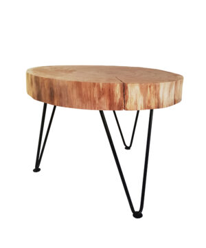 Rustic real wood slice coffee table OAK ROUND handmade