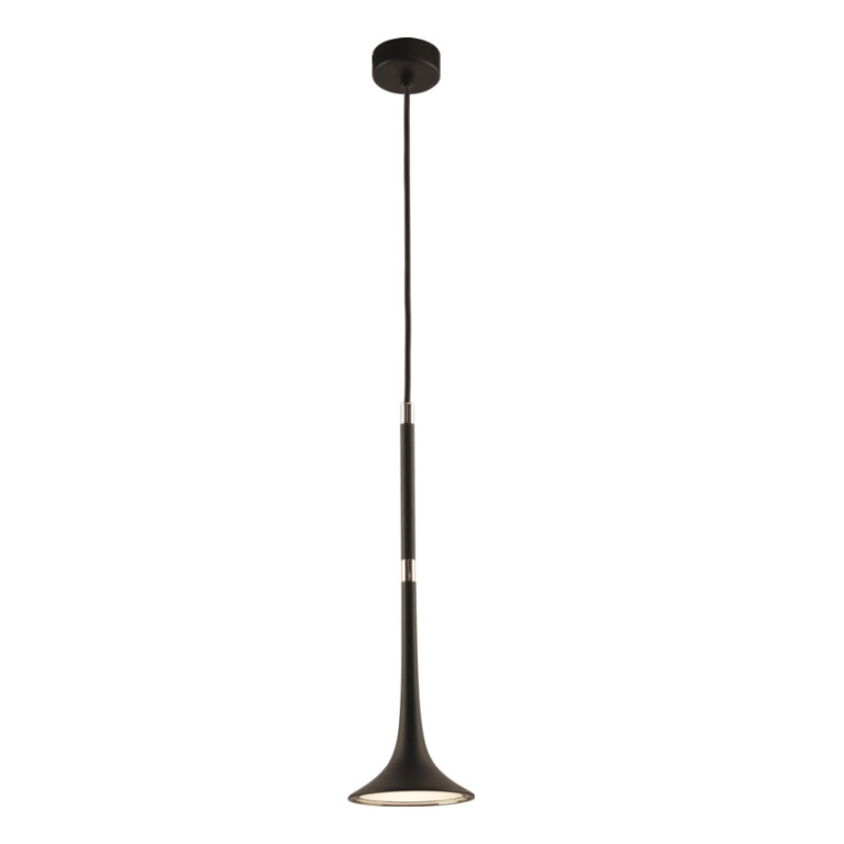 Contemporary single Ceiling Pendant Light LOFT in black and nickel finishes