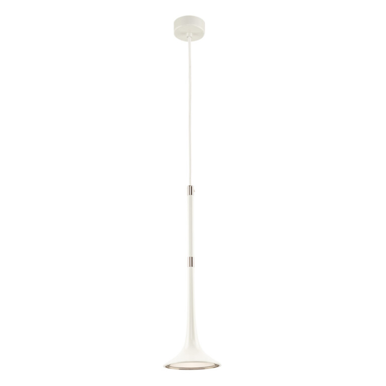 Contemporary single Ceiling Pendant Light LOFT in white and nickel finishes