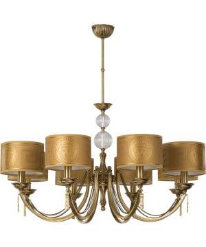 Bespoke chandelier Versace ZAFFIRO brass in gold