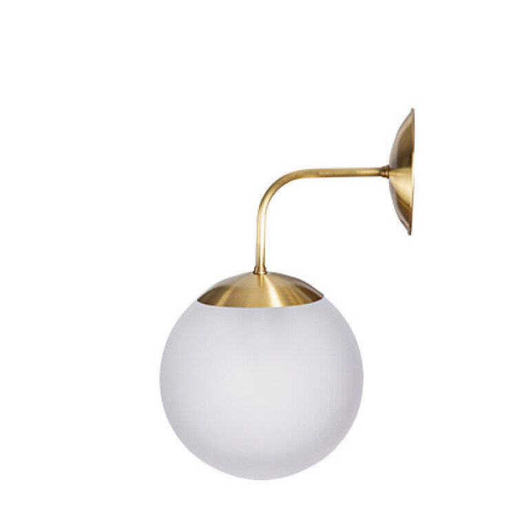 Milk glass Wall light BACA with gold finishes