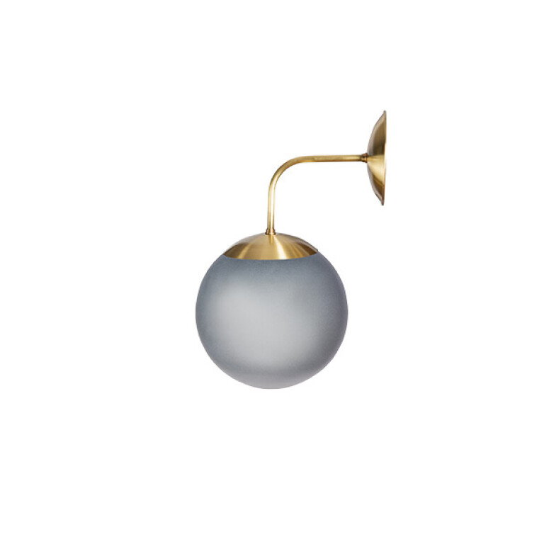 Grey wall light BACA in gold finishes