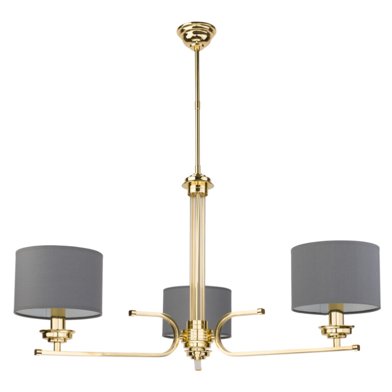 Lighting room BOLT 3 light ceiling chandelier lighting in gold, grey shades
