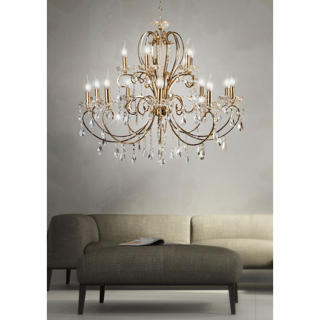 luxury chandelier Aurora with crystals