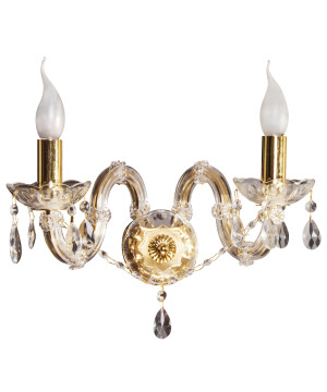 Palace wall light MARIA THERESA on gold frame with crystals