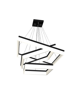 Designer led ceiling pedant light CAIR on black frame