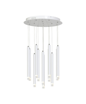 White ceiling pendant cluster LED 12 Lights STAR in white finishes