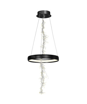 Decorative ceiling pendant LED light FROZEN in black with icicles