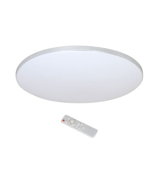 large flush modern ceiling LED light VINCENT with chrome frame & acrylic diffuser