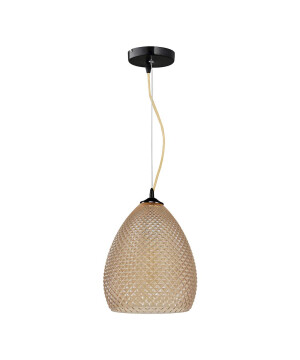 Single ceiling pendant light GLABS in amber glass shade