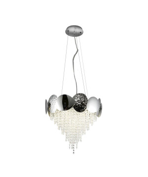 Glamour chandelier with crystals MADAME on chrome frame