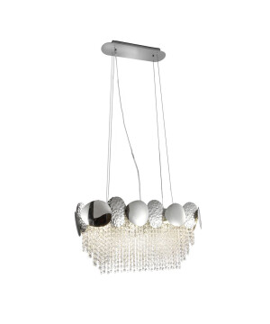 Crystal ceiling pendant light GLAMOUR in chrome