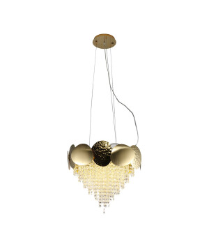 Italian designer gold plated contemporary crystal chandelier MADAME