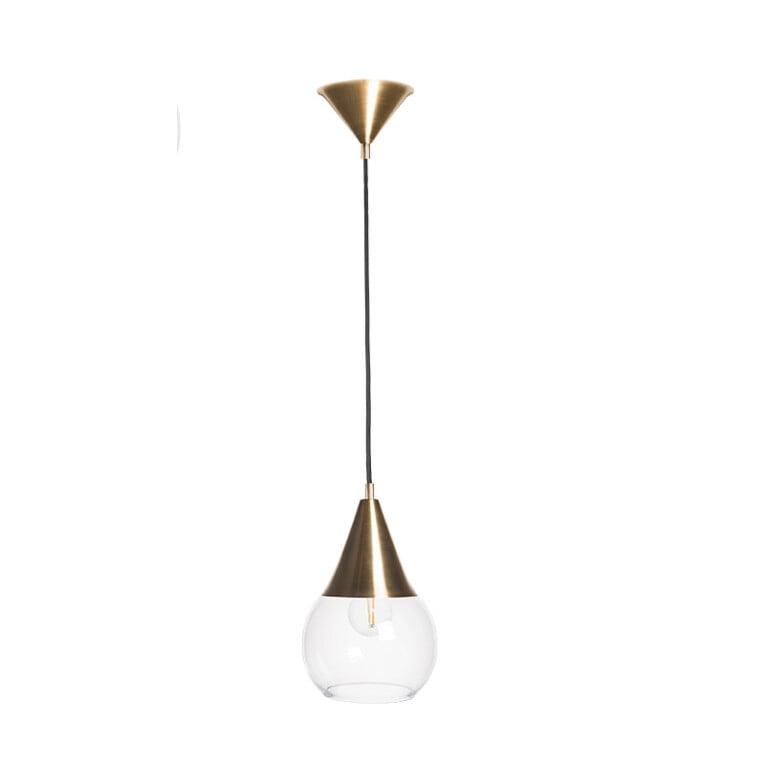 Handmade single ceiling pendant light SURREY with glass shade