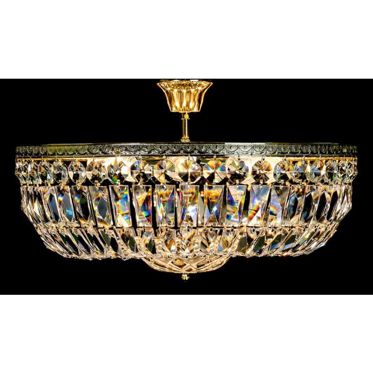 Luxury 24k gold Swarovski crystal ceiling light VALERIA
