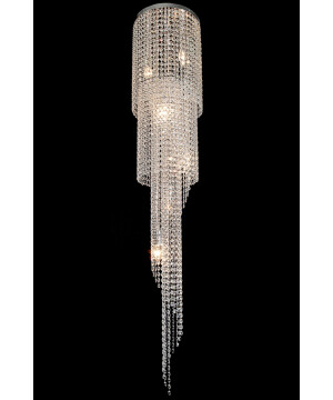 Long crystal chain chandelier SPAIN Style Ceiling Light