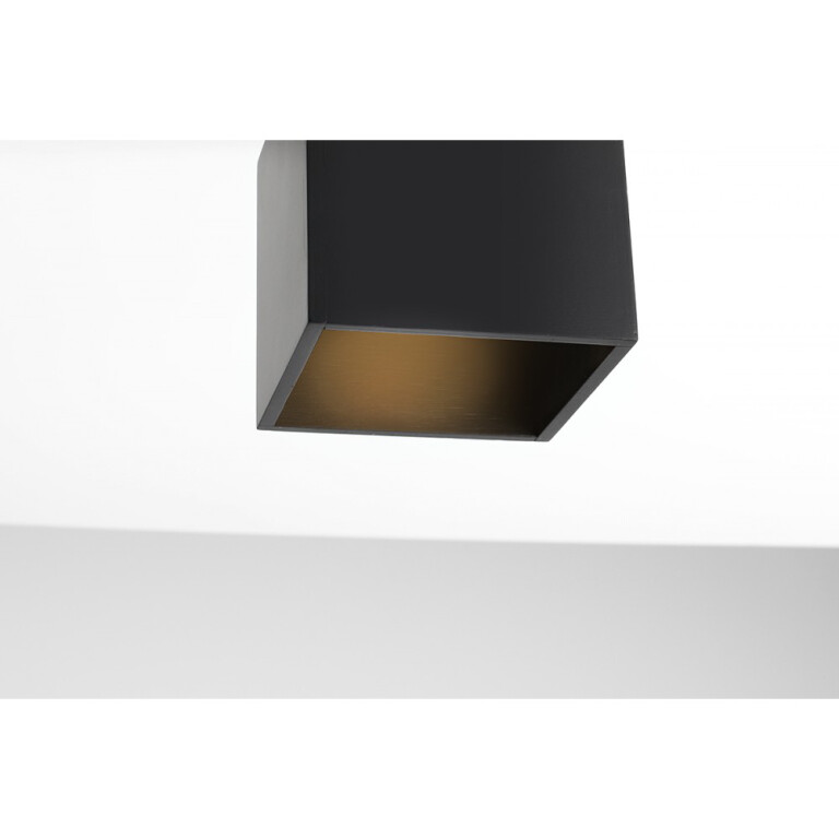 modern single ceiling flush light BITTER in black