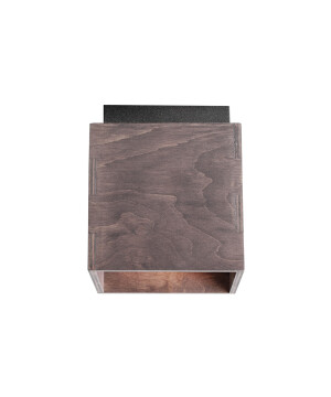 Wooden ceiling light BITTER in taupe finishes