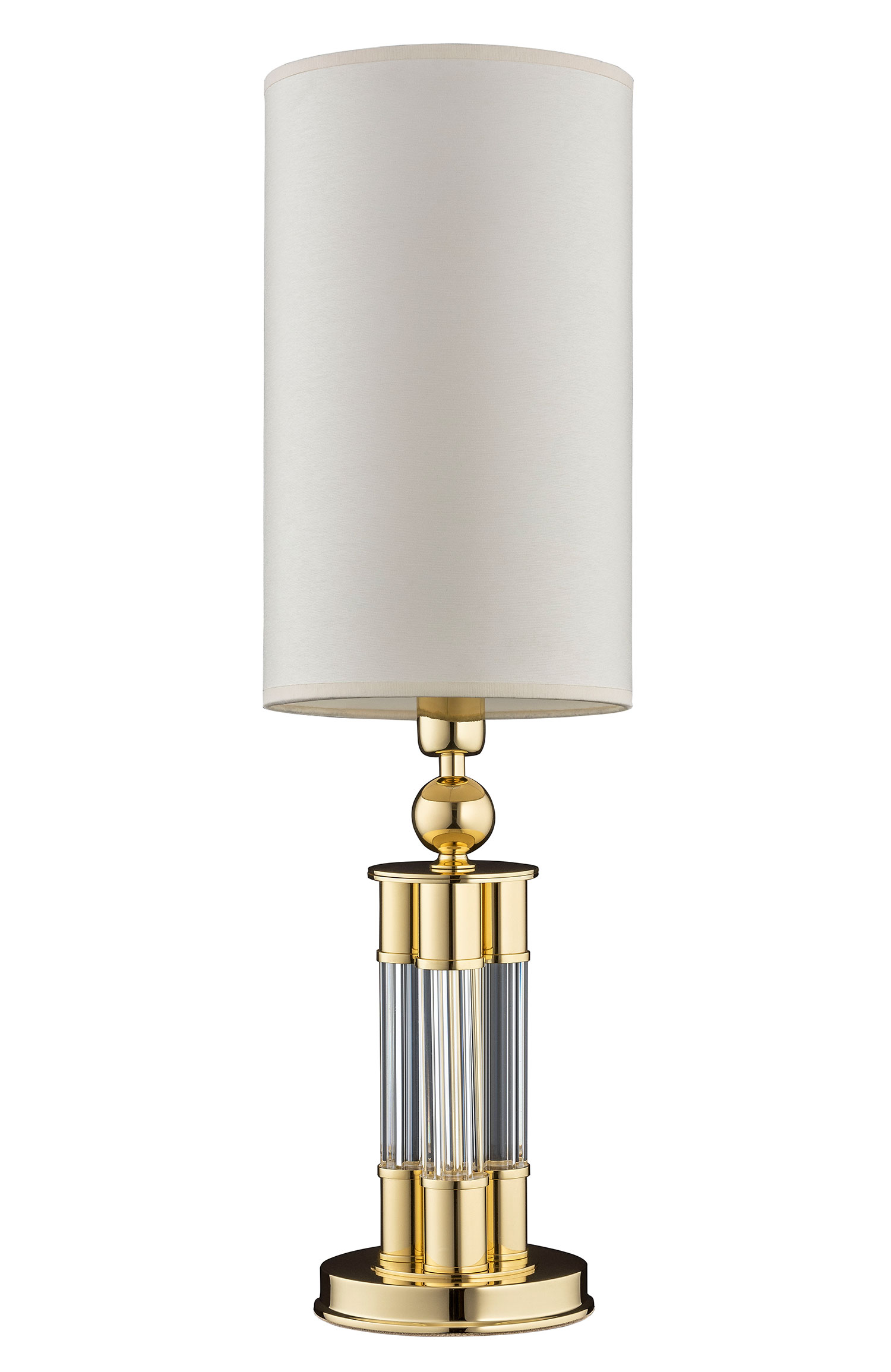 Gold Table Lamp Lea Brass Silk White Lamp Shade Luxury Chandelier