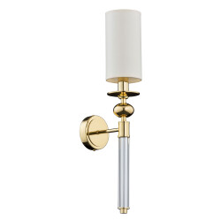 luxury wall lights gold RUTA with white shades