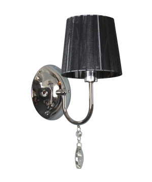 Classic wall light SORRENTO with black shades