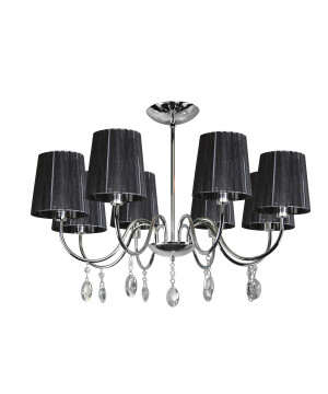 Classic chandelier SORRENTO 8 light in chrome with crystals