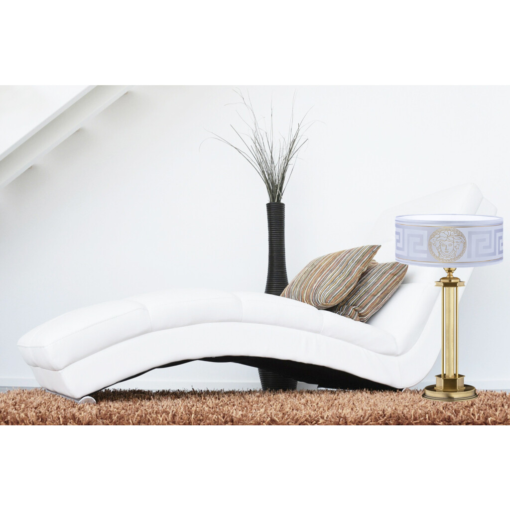 Living room idea with bedside table lamp DECOR Versace lamp shade