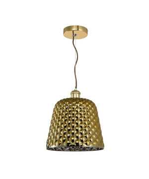 glamour single pendant light CONE in gold