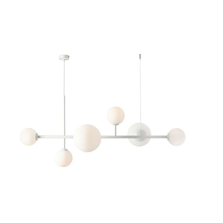 bar kitchen ceiling light BALIA in white 6 lights