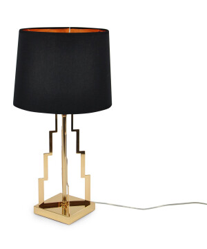 gold living room table lamps TOWER in gold glamorous