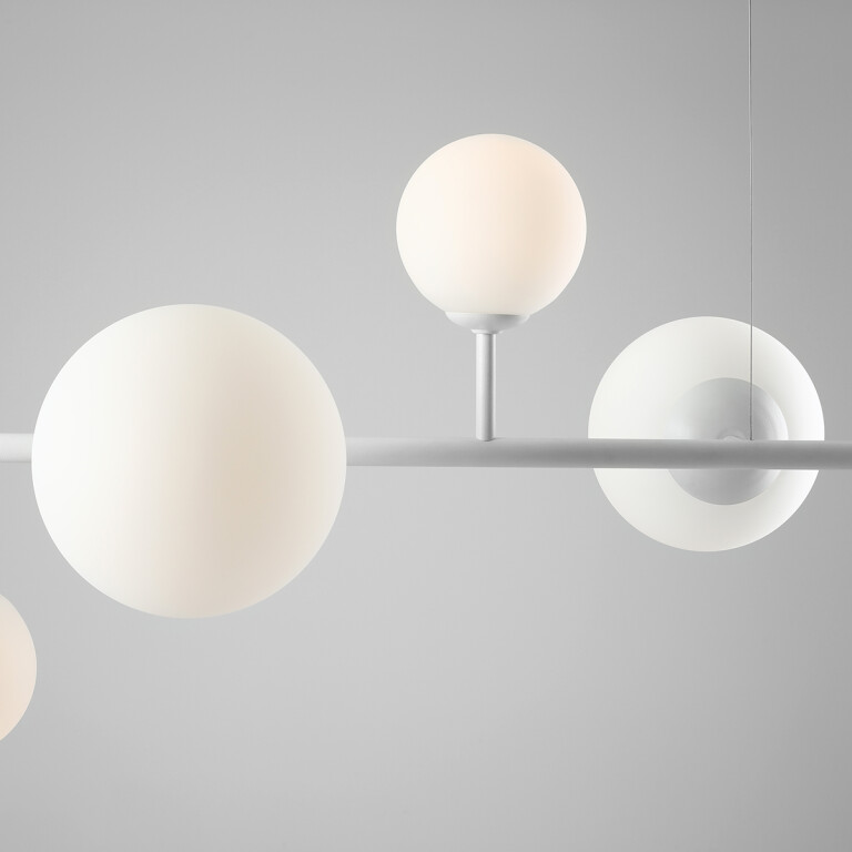 bar pendants BALIA in white 6 lights