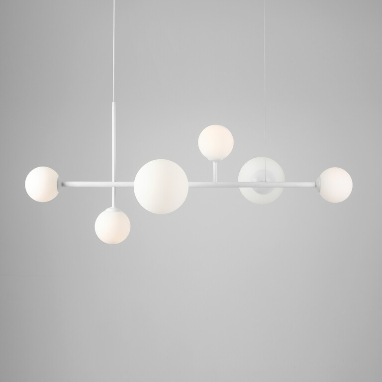white bar pendants BALIA 6 lights