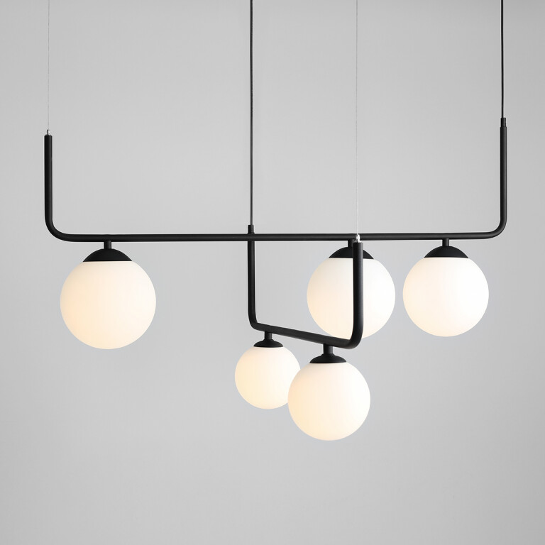 ceiling bar lights uk ARTEMIDA in black