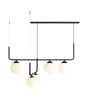 bar pendant lighting ARTEMIDA in black 5 lights