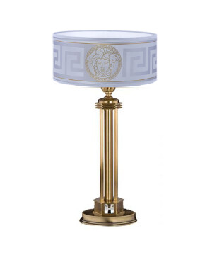 Bedside lamp DECOR in patina finishes with Versace shade & Swarovski Crystal