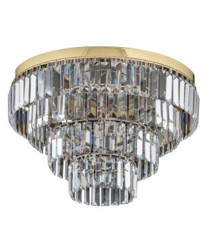 gold crystal flush ceiling lights ELLINI 6 light in gold with Swarovski crystals