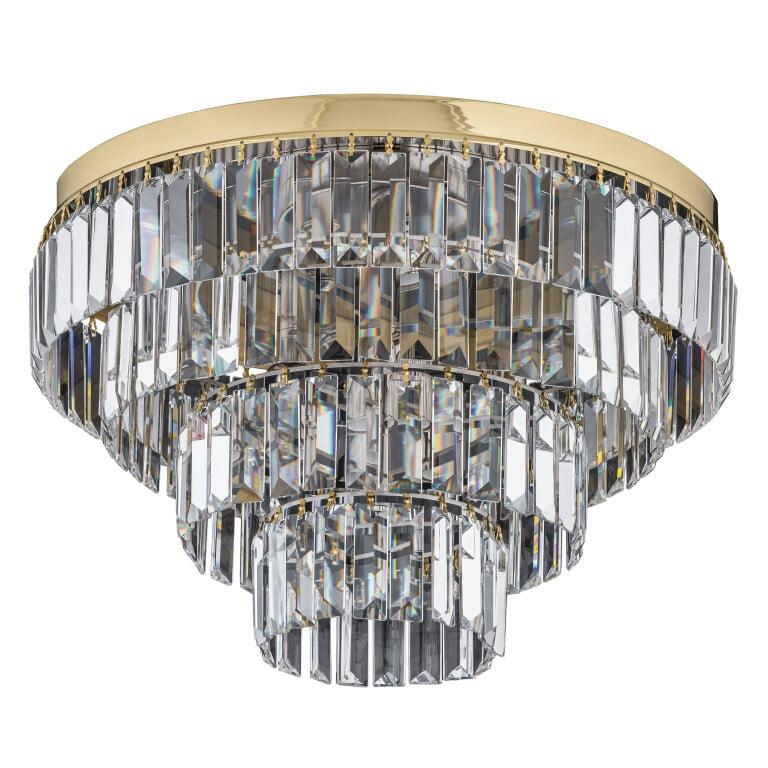 bespoke lighting ELLINI gold crystal flush ceiling lights with swarovski crystals