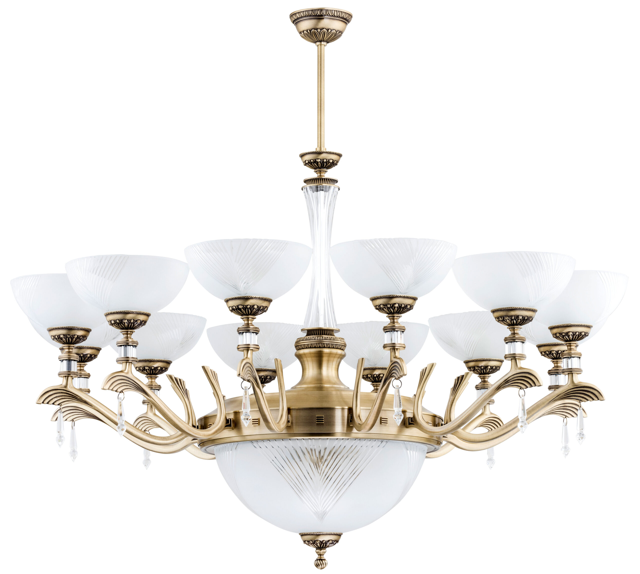 Large Modern Brass 12 Lights Chandelier Modern Brass