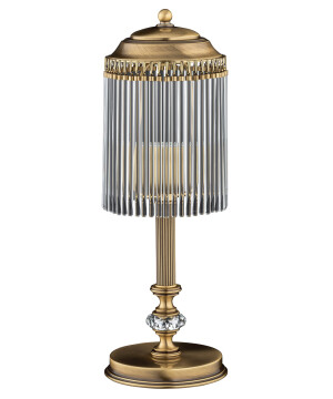high end table lamp FIORE in patina finishes with glass shade