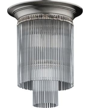 ceiling flush mount crystal chandelier FIORE brass in nickel