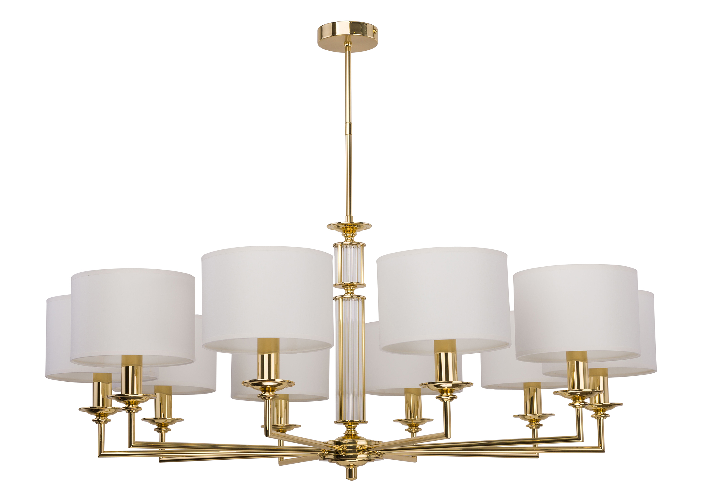 Gold Bedroom Chandelier Artu 10 Lights White Shades Luxury Chandelier