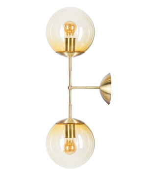 statement wall light BACAR glass shades