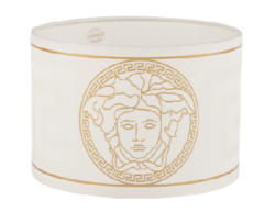 Versace white Medusa lamp shade